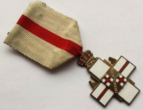 Аверс и реверс памятной медали моторизированной пехотной дивизии «Болонья».