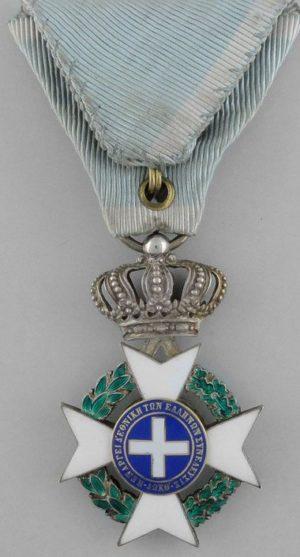 Аверс и реверс знака Рыцарь серебряного креста.