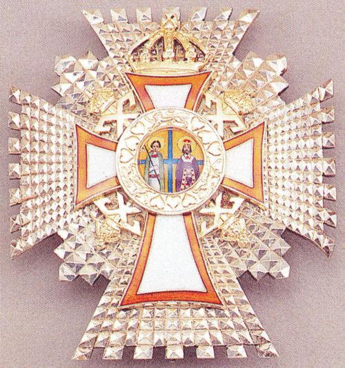 Звезда Большого командорского креста ордена Святых Георгия и Константина.