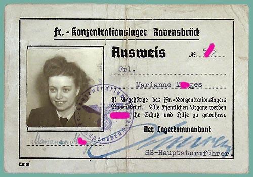 Удостоверение личности одной из надзирательниц лагеря Равенсбрюк.