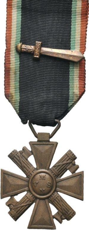 Креста «За выслугу лет» (20 лет) с мечем-гладиусом.