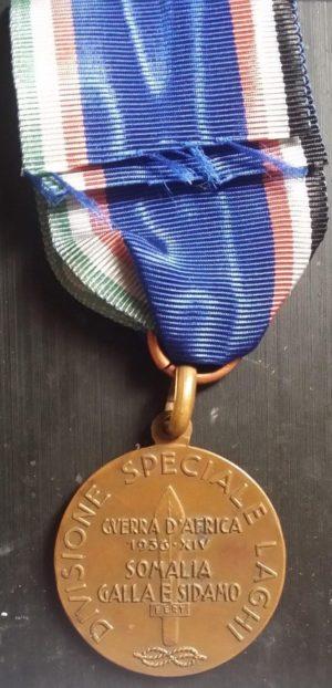 Аверс и реверс памятной бронзовой медали подразделения «LAGHI» в Сомали.