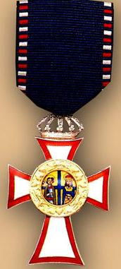 Знак Рыцарского серебряного креста ордена Святых Георгия и Константина.