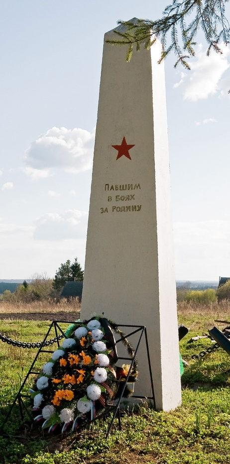 д. Дороховая Бокситогорского р-на. Памятник погибшим землякам.