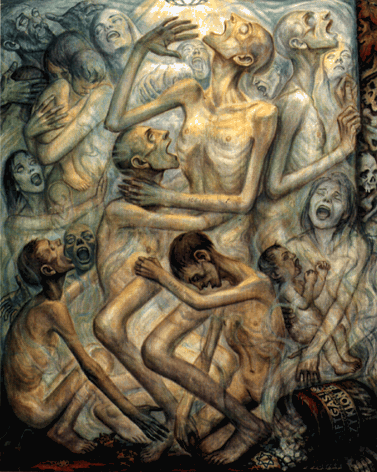 Художник Olère David. В газовой камере.