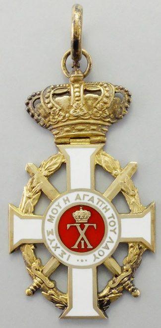 Аверс и реверс знака Орден Георга I с мечами.
