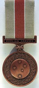 Аверс и реверс медали «За гражданскую службу 1939-1945»