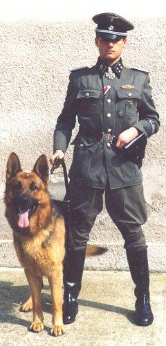 Собаки личной охраны офицеров.