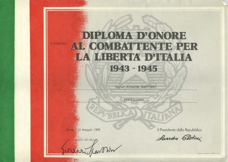 Свидетельство о награждении памятной медалью освободительной войны.
