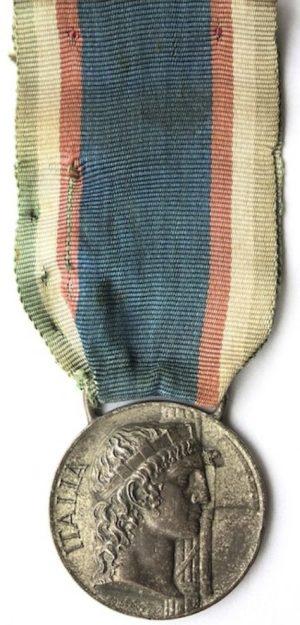 Аверс и реверс памятной медали «Итальянские фашисты за границей».