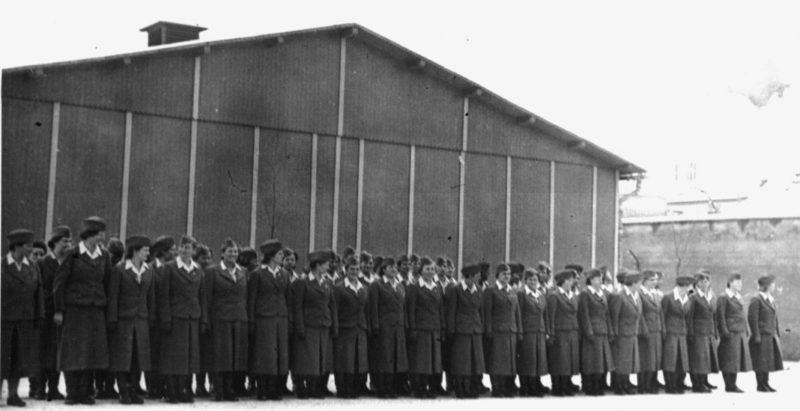 Надзирательницы лагеря на встрече с Гиммлером. 1940 г.