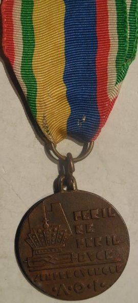 Аверс и реверс памятной медали «За Империю в Африке».