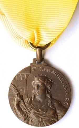 Аверс и реверс памятной медали 3-го полка тяжелой артиллерии.