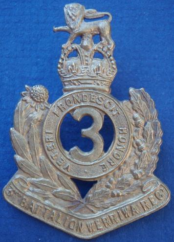 Знаки на шляпу военнослужащих 3-го пехотного батальона.