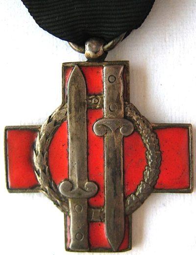Аверс и реверс памятного креста 6-го батальона «Montagna».