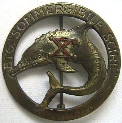 Аверс и реверс знака подводного отряда 10-й флотилии МАС.