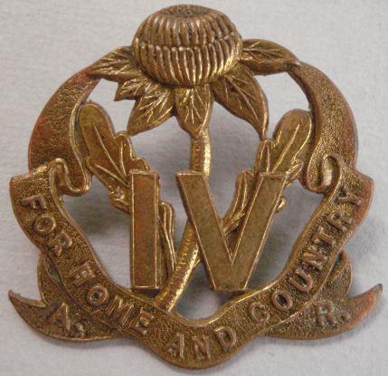 Знак на шляпу военнослужащих 4-го пехотного батальона.