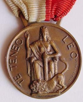 Аверс и реверс памятной медали дивизии Гавинаны.