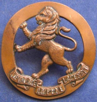 Аверс и реверс знака на шляпу военнослужащих 5-го пехотного батальона.