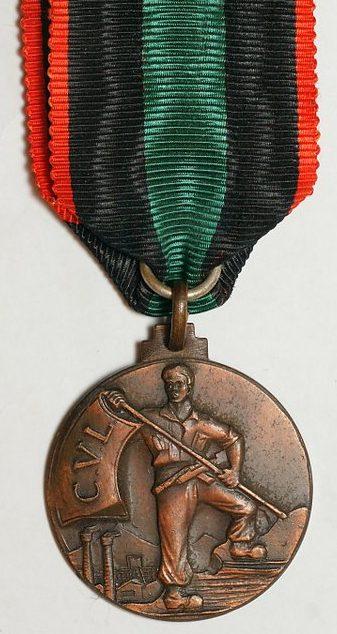 Аверс и реверс памятной медали 40-летия Итальянского движения Сопротивления.