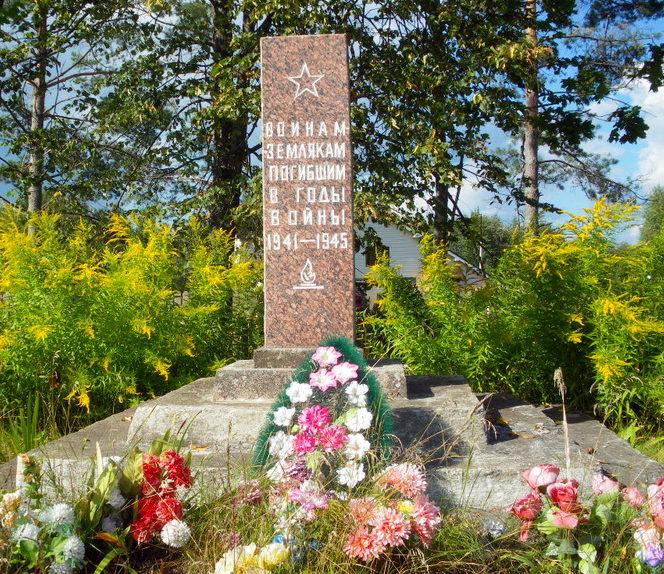 д. Мозолево-1 Бокситогорского р-н. Памятник погибшим землякам.