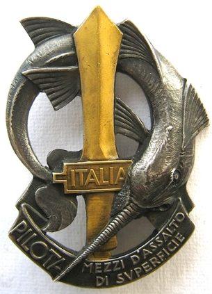 Аверс и реверс знака школы пилотов отряда быстроходных катеров 10-й флотилии МАС.