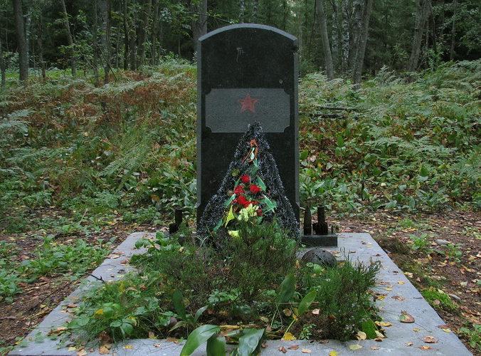 п. Дятлово Выборгского р-на. Памятник, установлен в 2010 году на братской могиле, в которой захоронено 141 советский воин, погибший в годы войны.