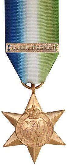 Медаль «Атлантическая звезда» с планкой «Франция и Германия».