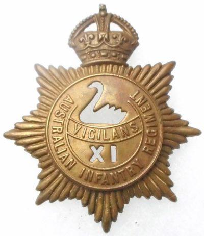 Знак на шляпу военнослужащих 11-го пехотного батальона.