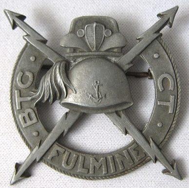 Аверс и реверс знака батальона « FULMINE» 10-й флотилии МАС. Республика.