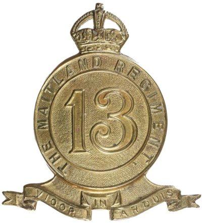 Знак на шляпу военнослужащих 13-го пехотного батальона.