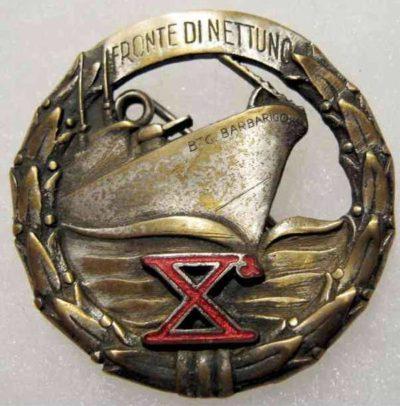 Аверс и реверс знака военно-морских пехотных батальонов Xª.