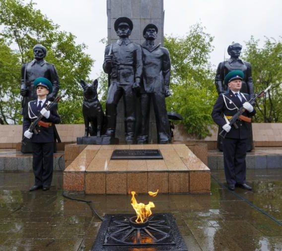 Памятник пограничникам. Владивосток. Россия.