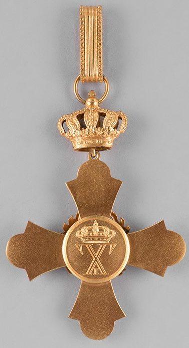 Аверс и реверс Командорского креста ордена Феникса.