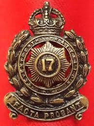 Знак на шляпу военнослужащих 17-го пехотного батальона.