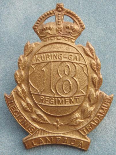 Знак на шляпу военнослужащих 18-го пехотного батальона.
