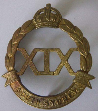 Знак на шляпу военнослужащих 19-го пехотного батальона.