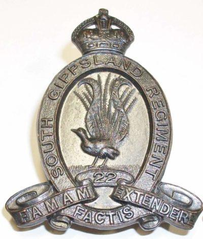 Знак на шляпу военнослужащих 22-го пехотного батальона.