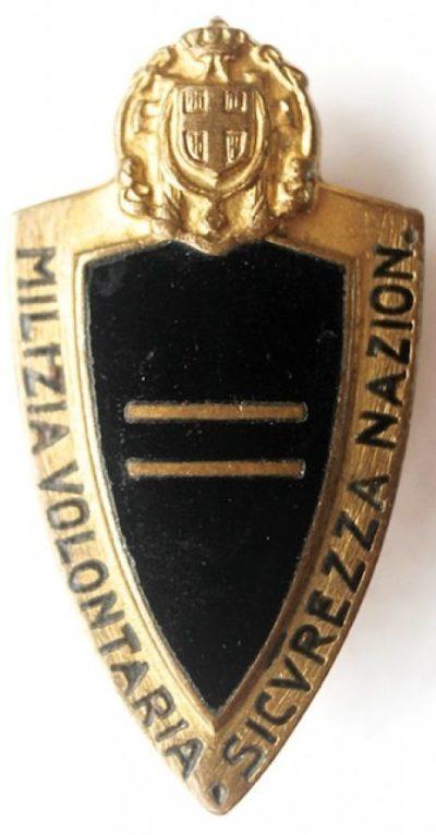 Квалификационные знаки милиции MVSN. Звание - «Capo Manipolo».