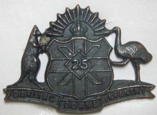 Знак на шляпу военнослужащих 25-го пехотного батальона.
