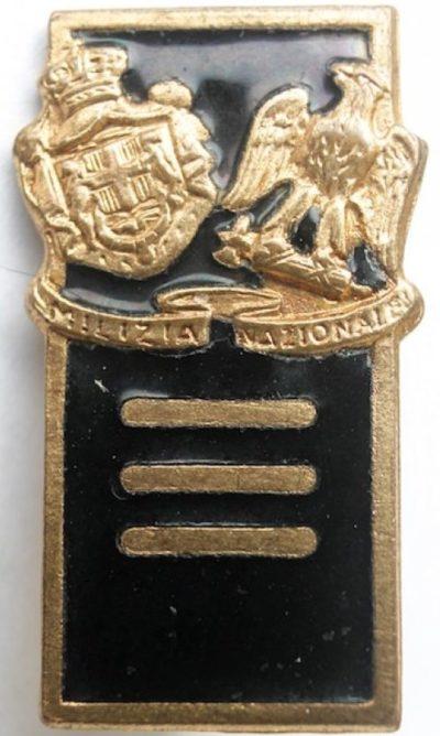 Квалификационные знаки милиции MVSN. Звание –«Centurione».