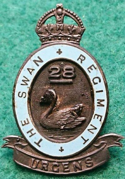 Знаки на шляпу военнослужащих 28-го пехотного батальона.
