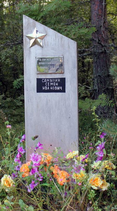 д. Леднево Кировского р-на. Братская могила советских воинов.