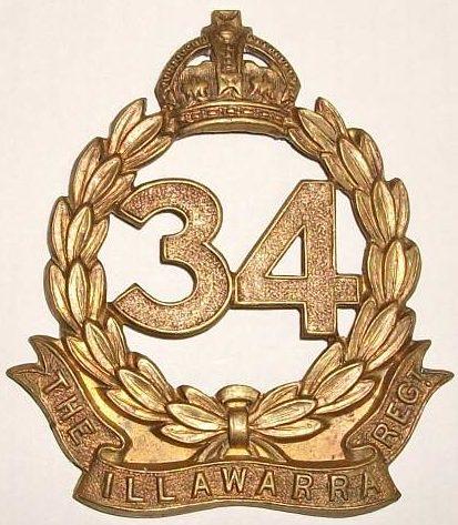Знак на шляпу военнослужащих 34-го пехотного батальона.