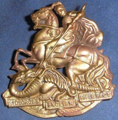 Аверс и реверс знака на шляпу военнослужащих 36-го пехотного батальона.