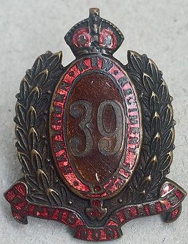 Знак на шляпу военнослужащих 39-го пехотного батальона.