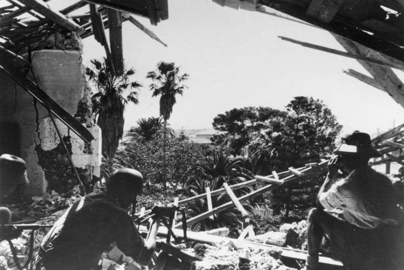 Бой немецкого десанта в оливковой роще. Май, 1945 г.