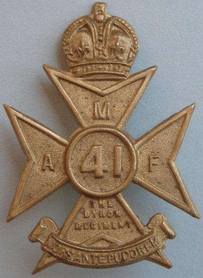 Аверс и реверс знака на шляпу военнослужащих 41-го пехотного батальона.