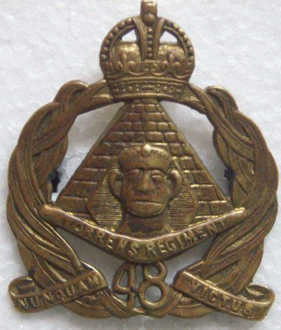 Знак на шляпу военнослужащих 48-го пехотного батальона.