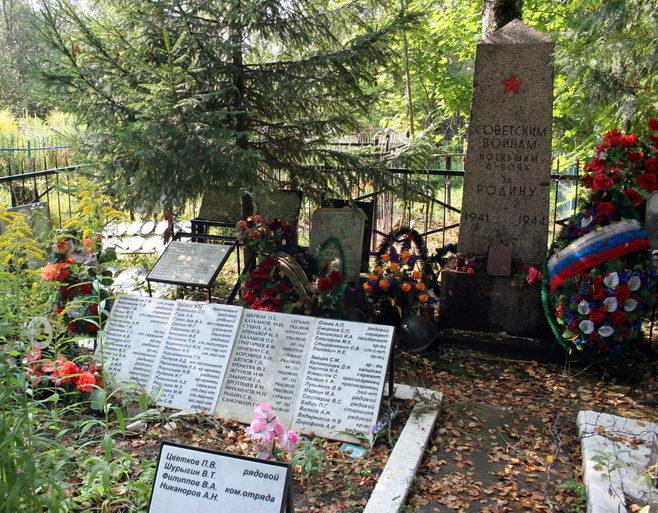 ст. Назия Кировского р-на. Памятник на кладбище, установлен на братской могиле, в которой похоронено 4 861 советский воин.